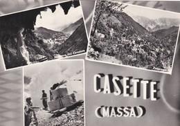 CARTOLINA - MASSA - CASETTE - VIAGGIATA PER GENOVA FRANCOBOLLO ASPORTATO - Massa