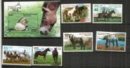 Chevaux De Race:Mongolian Wild Horse,Mustang,Appaloosa,Percheron,Lipizzan,Trakehner. Série + B-F Neufs ** - Horses