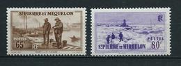 SAINT PIERRE ET MIQUELON 1938 . N°s 179 Et 180 . Neufs ** (MNH) . - St.Pierre Et Miquelon