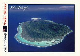 1 AK Cook Islands * Rarotonga - Luftbildaufnahme - Die Größte Der 15 Cookinseln Im Südpazifik * - Tonga