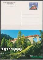 Schweiz Ganzsache1999 Nr.P 270 Ungebraucht Eröffnung Vereinalinie (d 4430)günstige Versandkosten - Interi Postali
