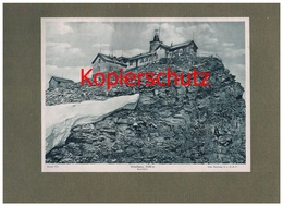 001 Zittelhaus Sonnblick Alpenvereinshütte Alpenverein Berghütte Lichtdruck 1908 !! - Ohne Zuordnung