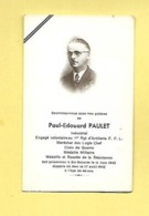 IMAGE RELIGIEUSE PAUL EDOUARD PAULET ENGAGE VOLONTAIRE 1 ER REGIMENT ARTILLERIE F F L PRISONNIER BIR HAKEIM 11 JUIN 1942 - Andachtsbilder