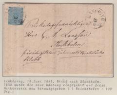 SCHWEDEN 18/06/1863 LINKÖPING NACH STOCKHOLM - Suède