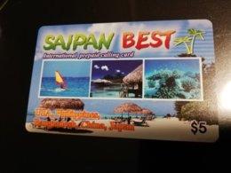 GUAM/ SAIPAN  PHONECARD $5 Fine Used  ** 366 ** - Guam