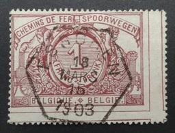Belgique: Colis Postaux Yvert N° 26 (Bilingue, Chiffre Blanc, 1895-1902) Oblitéré - Bahnwesen