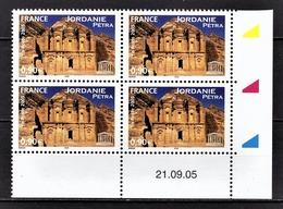 FRANCE 2005 / 2007 - BLOC DE 4 TS / Y.T. N° 133 - NEUFS** / COIN DE FEUILLE / DATE - Dated Corners