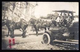 PORTOFINO KULM - GENOVA - 1906 - OMNIBUS CON CAVALLI + AUTO DA TURISMO. GRANDE ANIMAZIONE!!! - Voitures De Tourisme