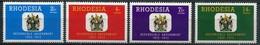 Rhodesien Mi# 135-8 Postfrisch MNH - Heraldic - Rhodésie (1964-1980)
