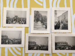 E352 LOT 6 Photographie Originale Vintage Saintes-Maries De La Mer Camargue Rassemblement - Luoghi