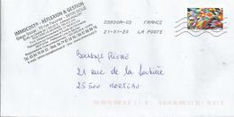 Mon Fantastique Carnet De Timbres - Timbre De 2019 Sur Enveloppe - Francia