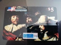 UNITED STATES USA AMERIKA  AMERIVOX $5 CARDEX 94 NACHTWACHT MINT **166** - Stati Uniti