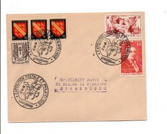 EXPOSITION POSTALE ET PHILATELIQUE DE STRASBOURG 1950 - Commemorative Postmarks