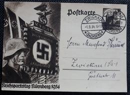 DR 1934, Postkarte P252, ZWICKAU - Deutschland