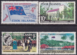COOK ISLANDS 1965 SG #175-78 Compl.set Used Internal Self-Government - Cookeilanden