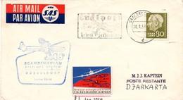 Saarbrucken Dusseldorf Djakarta - Erstflug SAS - Saar Sarre - 1er Vol - Inaugural Flight - Indonesia Jakarta Indonésie - Covers & Documents