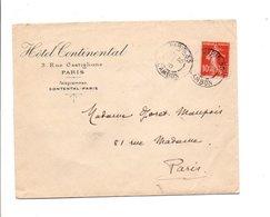 SEMEUSE SUR LETTRE A EN TETE D'HOTEL DE PARIS 35 1910 - Marcophilie (Lettres)