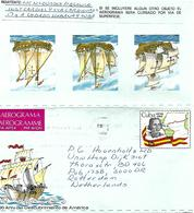 Cuba 1986 Havana Discovery Americas Columbus Colon Cardiovasular Health Aerogramme - Cartas