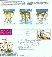 Cuba 1986 Havana Discovery Americas Columbus Colon Cardiovasular Health Aerogramme - Covers & Documents