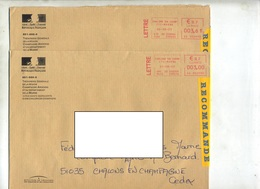 Lettre Recommandee Machine Chalons - Marcofilie (Brieven)