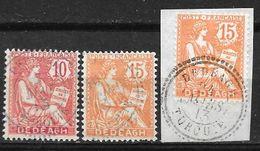 Dédéagh 3 Timbres Type Mouchon Oblitérés Dont Un Sur Petit Fragment - Used Stamps