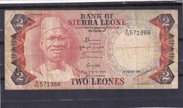 Sierra Leone 2 Leones - Bankbiljetten