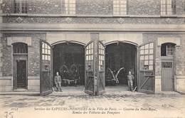 75005-PARIS-SERVICES DES SAPEURS POMPIERS DE LA VILLE DE PARIS, CASERNE DU PORT-ROYAL, REMISE DES VOITURES DES POMPIERS - District 05