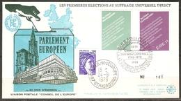 Conseil De L'Europe Enveloppe Eire 20/08/1979 Timbre Yvert Eire 396/397 Tirage Limité 750 Numéroté 141 - Covers & Documents