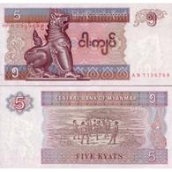 Billet Myanmar 5 Kyats - Myanmar