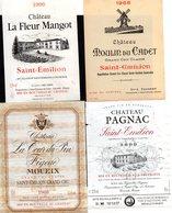 """Etiquettes-  """" St EMILION""""- - Bordeaux"""