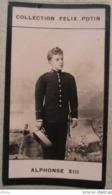 Alphonse XIII Roi D' Espagne - Première Collection Photo Felix POTIN 1900 - Félix Potin