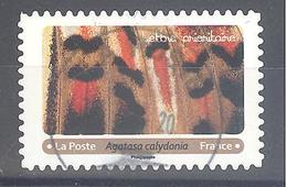 France Autoadhésif Oblitéré (Effets Papillons 7 - Agatasa Calydonia) (cachet Rond) - Francia