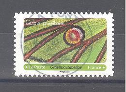 France Autoadhésif Oblitéré (Effets Papillons 11 - Graelisia Isabellae) (cachet Rond) - France