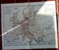 Karte Der Post Hauptatrassen Europa 1829 - Briefmarken