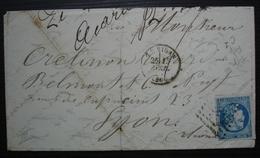 1871 Emission De Bordeaux Cérès 46B Sur Lettre D'Alphonse Acaries Du Vigan (Gard) Draperies Et Nouveautés, Pour Lyon - Postmark Collection (Covers)