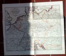 Mittel Europa Übersicht Der Haupt Post Straßen 1829 - Timbres