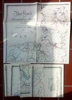 Post Karte Von Dem Preussischen Staate In 6 Teilen 1829 - Timbres