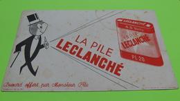 Buvard - PILE LECLANCHÉ - état D'usage : Voir Photos - 21x13 Environ - Vers Année 1960 ? / 06 - Accumulators