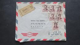 Maroc Lettre Recommandé De Casablanca (Griffe Linéaire) 1963 Pour Saigon Vietnam - Marocco (1956-...)