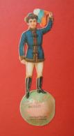 CHROMO  DECOUPI.  Chocolat POULAIN. 19,5 X 5,5 Cm.   Enfant Sur Le Globe Terrestre. Avec Drapeau.  RUSSIE - Non Classificati