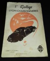 Programme 2 Eme Rallye Lyon-charbonnieres 1949 - Programs