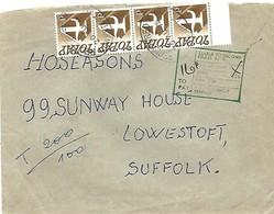 UK 1975 Lowerstoft Unfranked Postage Due Cover From Belgium - Portomarken
