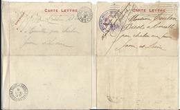 Lettre  Trésor Et Potes + Cachet Hopital Grenoble - + 1 Lettre Simple - Militaria