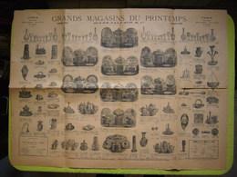Grande Pub Grands Magasins Du Printemps Paris Vaisselle Et Lampe - Publicités