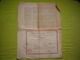 Diplôme L'Athénée De La Langue Française 1808 à Mr Gaspard Double Page - Diplômes & Bulletins Scolaires