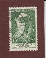 1069 De 1956 - Oblitéré - Chardin . Célébrité Du XIè Au XXè Siècles - Voir Les 2 Scannes - France