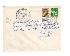 LANCEMENT DU PAQUEBOT FRANCE SAINT NAZAIRE 1960 - Marcofilia (sobres)