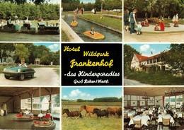 """REKEN Groß Reken 1962 """" Hotel Wildpark Frankenhof - Das Kinderparadies """" 9-geteilte Farbige AK - Borken"""