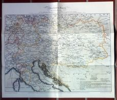 Kaiserthum Österreich Übersichtskarte Der Extrapoststrassen 1829 - Timbres
