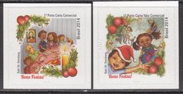 2014 Brazil  Christmas Noel Navidad   Complete Set Of 2 MNH - Brésil